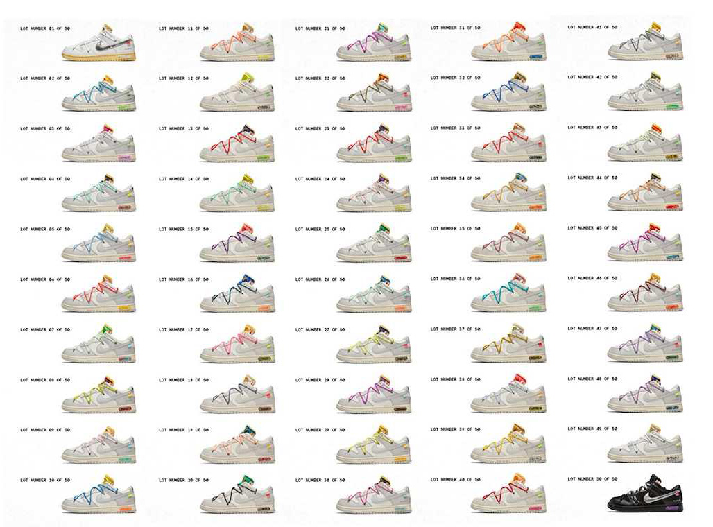 OFF-WHITE×DUNK LOW The 50 COLLECTION